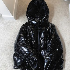 BLACK quilted bomber/puffer Jacket